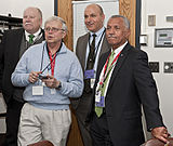 Charles Bolden and colleagues wait for news from MESSENGER.