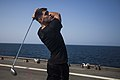 MEU Marines golf during steel beach aboard Gunston Hall 140921-M-HZ646-093.jpg