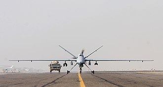 89th Attack Squadron - An MQ-9 Reaper taxis before a mission in Afghanistan
