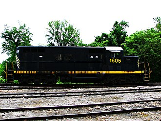Mississippi Central Railroad - MSCI locomotive 1605 in Holly Springs