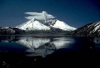 Mount St. Helens National Volcanic Monument - Spirit Lake and Mount St. Helens