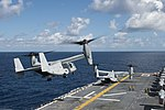 MV-22 takes off from USS Bonhomme Richard LHD-6 (150621-N-GZ638-109).jpg