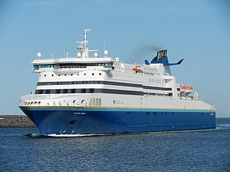 MV Atlantic Vision is one of several ships that provides inter-provincial ferry service to Newfoundland. MV Atlantic Vision entering Port aux Basques May 2014.jpg