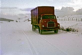 David MacBrayne - 3 April 1968 in snow south of Portree