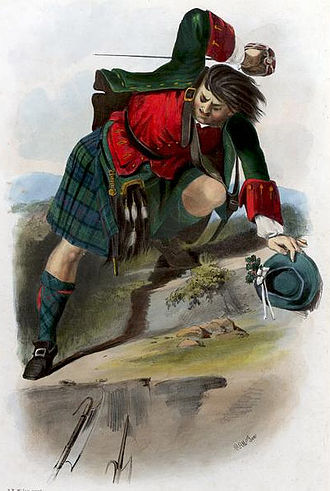 Clan Mackenzie - A romanticised Victorian-era illustration of a Clan Mackenzie clansmen by R. R. McIan from The Clans of the Scottish Highlands published in 1845.