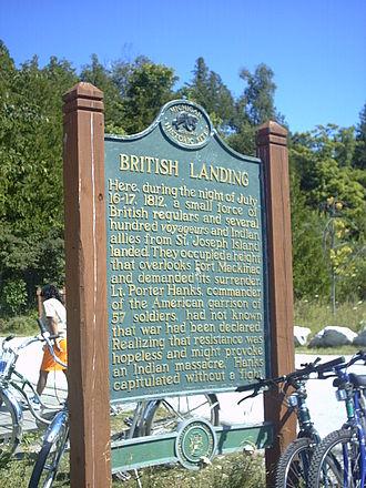 Mackinac Island - Historical Marker at British Landing