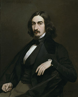 Carlos Luis de Ribera y Fieve - Portrait of Carlos Luis de Ribera y Fieve, by Federico de Madrazo