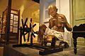 Mahatma Gandhi Fibreglass Statue With Charka - Gandhi Memorial Museum - Barrackpore - Kolkata 2017-03-31 1240.JPG