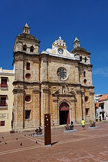 Iglesia de San Pedro Claver, Cartagena national monument of Colombia