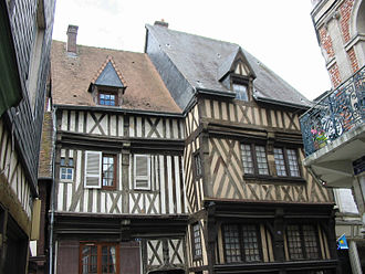 Bernay, Eure - Timber framed house in Bernay