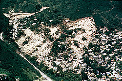 The Mameyes mudslide disaster was caused by heavy rainfall from Tropical Storm Isabelin 1985. The mudslide destroyed more than 100 homes and claimed an estimated 300 lives.