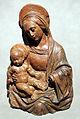 Manifattura toscana da benedetto da maiano, madonna col bambino, terracotta, da un tabernacolo a castelfiorentino.JPG