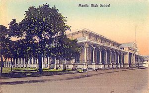 Manila High School (Intramuros) - Archival photo of Manila High School