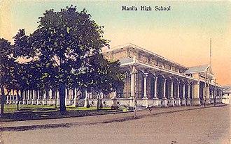 Manila High School (Intramuros) - Archival photo of Manila High School