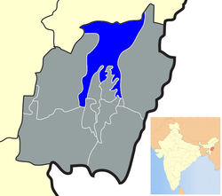 Location of Senapati district in Manipur