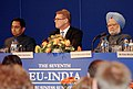 Manmohan Singh with the Prime Minister of Finland, Mr. Vanhanen and the Union Minister for Commerce and Industry, Shri Kamal Nath at the closing session of India-EU Business Summit in Helsinki, Finland on October 12, 2006.jpg