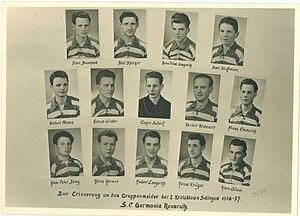 Mannschaftsfoto SC Germania Reusrath 1956
