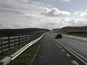 A617 road - The Sherwood Way Mansfield Bypass in September 2005; the 6-mile £31m Mansfield and Ashfield Regeneration Route opened in December 2004