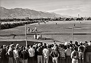 A baseball game at Manzanar, 1943.