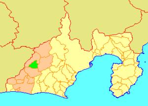 Tatsuyama, Shizuoka - Image: Map.Tatsuyama.Shizuo ka