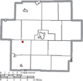 Map of Carroll County Ohio Highlighting Dellroy Village.png
