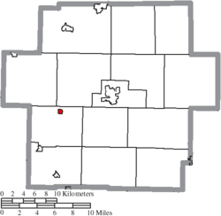 Location of Dellroy in Carroll County