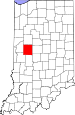 Map of Indiana highlighting Montgomery County.svg