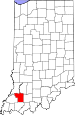 Map of Indiana highlighting Pike County.svg