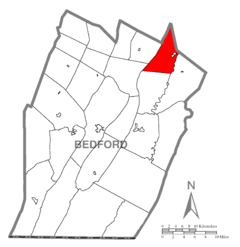 Map of Liberty Township, Bedford County, Pennsylvania Highlighted.png