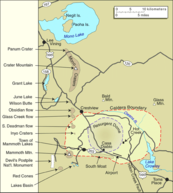 Map of the Mono Lake area, showing geological features