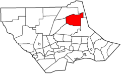 Map of Lycoming County Pennsylvania Highlighting Cascade Township.png
