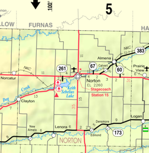 Norton County, Kansas - Image: Map of Norton Co, Ks, USA