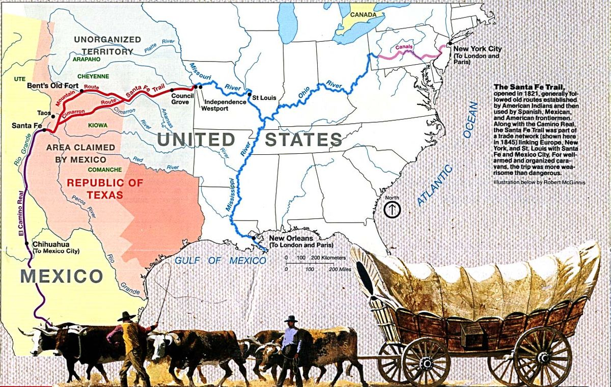 Santa Fe Trail Wikipedia - Map of us land originally held by mexico