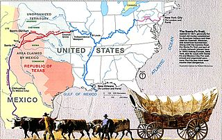 Santa Fe Trail Transportation route through central North America that connected Franklin, Missouri with Santa Fe, New Mexico.