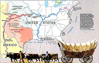 Santa Fe Trail - Image: Map of Santa Fe Trail NPS