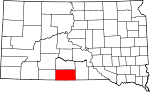 State map highlighting Todd County