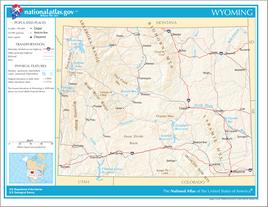 Karte von Wyoming