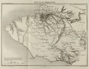 Map of port of Balaklava and route to Sevastopol 1855