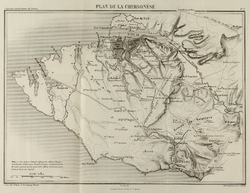 Map of port of Balaklava and route to Sevastopol 1855.png