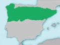 Mapa Achondrostoma arcasii.png