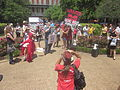 March Against Monsanto end at Jackson Square New Orleans Hell No GMO.JPG