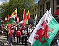 March for Welsh Independence arranged by AUOB Cymru First national march; Wales, Europe 34.jpg