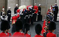 Margaret Thatcher coffin at St. Pauls X8A2604.jpg