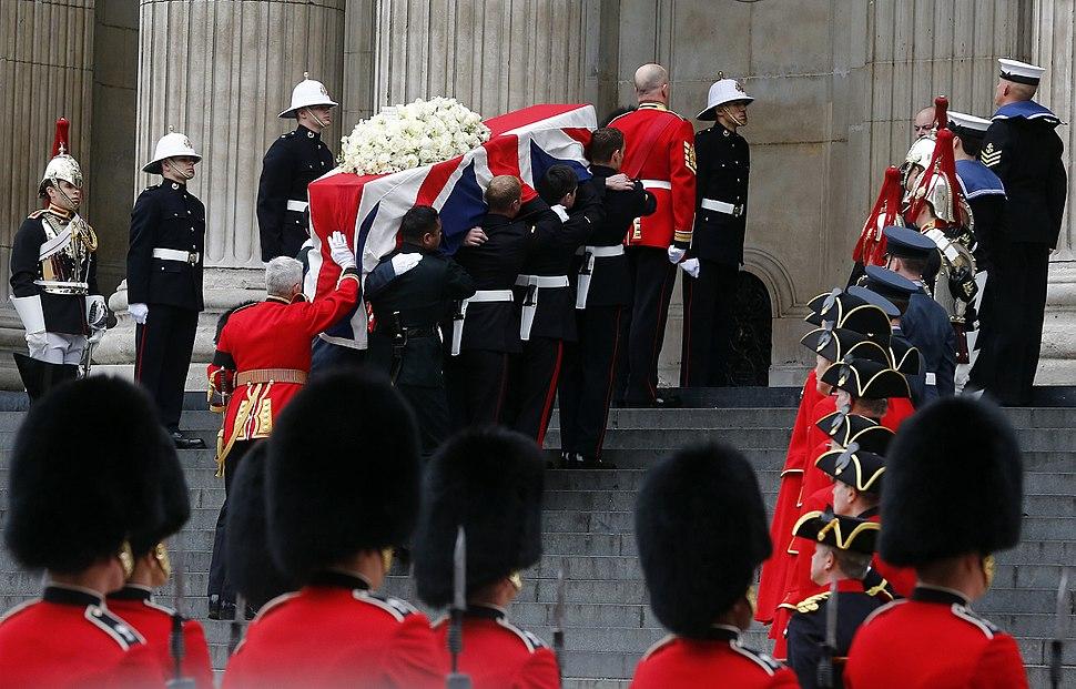 Margaret Thatcher coffin at St. Pauls X8A2604