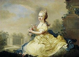August Friedrich Oelenhainz - Portrait of Maria Josepha Hermengilde von Liechtenstein by August Friedrich Oelenhainz