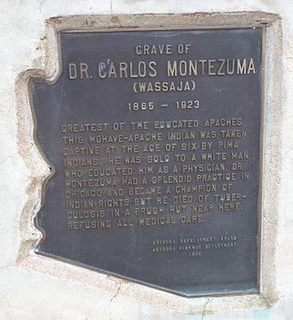 Fort McDowell, Arizona - Image: Maricopa County Dr. Carlos Montezuma's Grave
