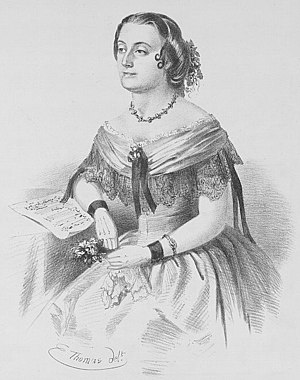Marie Carandini - Drawing of Marie Carandini on the cover of Lewis Henry Lavenu's I Cannot Sing Tonight