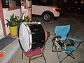 Maries Night Out Against Crime Bass drum Bari horn.jpg