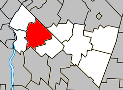 Location within Rouville RCM