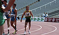 Mark Whiteman after race, 1992 Paralympics.jpg